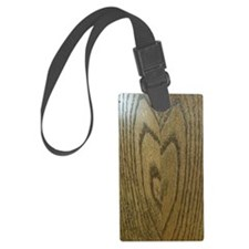 Wooden Heart Luggage Tag