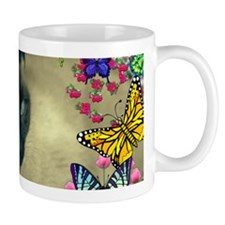 Stella the Siamese in Butterflies I Mug