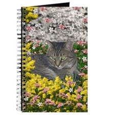 Mimosa the Tiger Cat in Mimosa Flowers Journal
