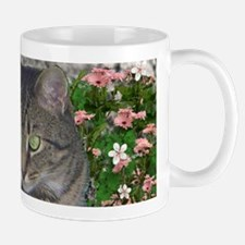 Mimosa the Tiger Cat in Mimosa Flowers Small Small Mug