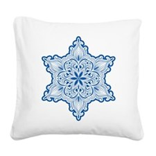 Lacy Snowflake Square Canvas Pillow