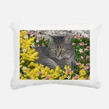 Mimosa the Tiger Cat in  Rectangular Canvas Pillow