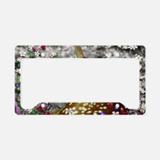 Bambina the Fawn in Flowers I License Plate Holder