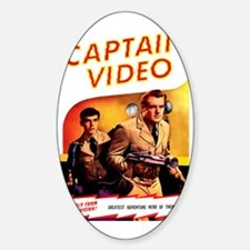 Captain Video Sticker (Oval)
