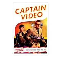 Captain Video Postcards (Package of 8)