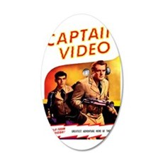 Captain Video 35x21 Oval Wall Decal
