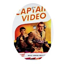 Captain Video Oval Ornament