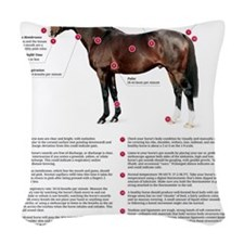 Vital Signs of a Healthy Horse Woven Throw Pillow