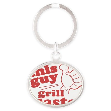 Grill Master Oval Keychain