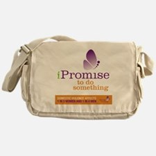 iPromise to do something with butter Messenger Bag