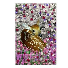 Bambina the Fawn in Flowe Postcards (Package of 8)