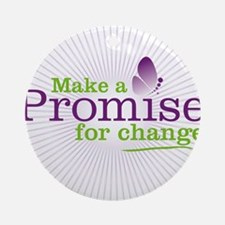 Make a Promise for Change Round Ornament