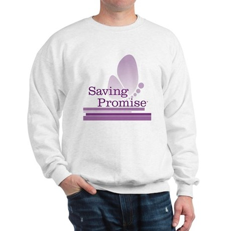 Saving Promise with large butterfly log Sweatshirt