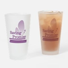 Saving Promise with large butterfly Drinking Glass