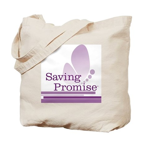 Saving Promise with large butterfly logo Tote Bag