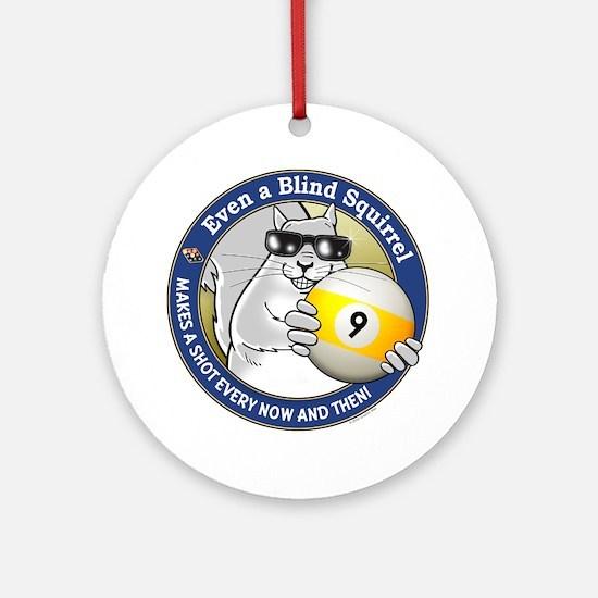 9-Ball Blind Squirrel Round Ornament