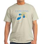 Expecting Blue Stork Light T-Shirt