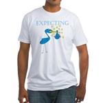 Expecting Blue Stork Fitted T-Shirt