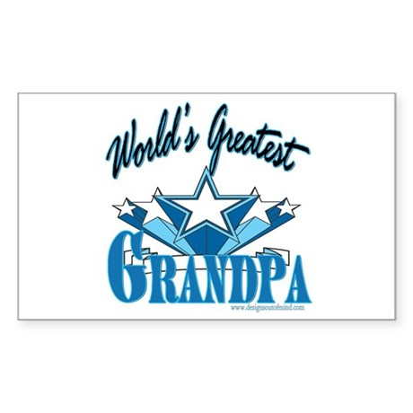 Greatest Grandpa Rectangle Sticker