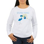 Expecting Blue Stork Women's Long Sleeve T-Shirt