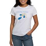 Expecting Blue Stork Women's T-Shirt