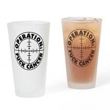 Fuck Cancer Trans Drinking Glass
