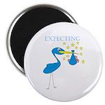 Expecting Blue Stork Magnet