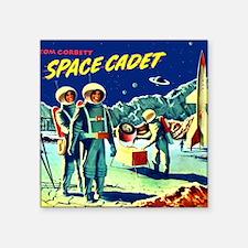 "Tom Corbett Mug Square Sticker 3"" x 3"""