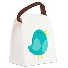 Blue Bird Canvas Lunch Bag