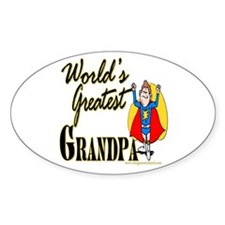 Super Grandpa Oval Decal