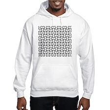 Black mesh pattern Hoodie