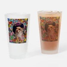 Chi Chi the Chihuahua in Butterflie Drinking Glass