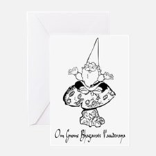 Medition gnome Greeting Card