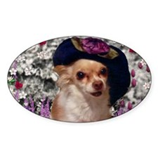 Chi Chi the Chihuahua in Flowers Decal