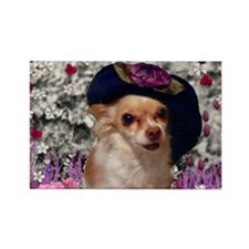 Chi Chi the Chihuahua in Flowers Rectangle Magnet