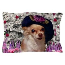 Chi Chi the Chihuahua in Flowers Pillow Case