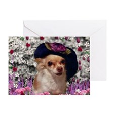 Chi Chi the Chihuahua in Flowers Greeting Card