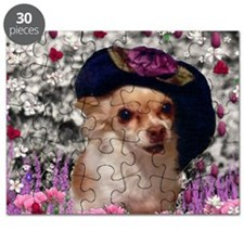 Chi Chi the Chihuahua in Flowers Puzzle
