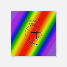 "UU Bedford Choir Square Sticker 3"" x 3"""
