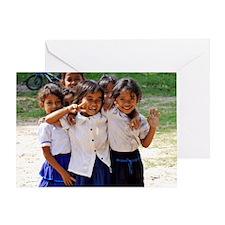 School Children Greeting Card