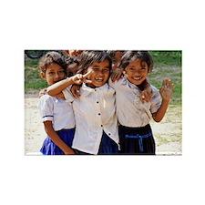 School Children Rectangle Magnet