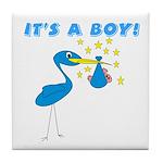 It's a Boy Stork Tile Coaster