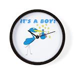 It's a Boy Stork Wall Clock