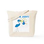 It's a Boy Stork Tote Bag