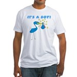 It's a Boy Stork Fitted T-Shirt