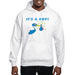 It's a Boy Stork Hooded Sweatshirt