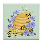 Honey Bee Dance Tile Coaster