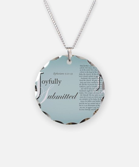 Joyfully Submitted logo and  Necklace