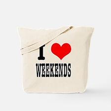 I Heart (Love) Weekends Tote Bag
