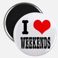 "I Heart (Love) Weekends 2.25"" Magnet (10 pack)"